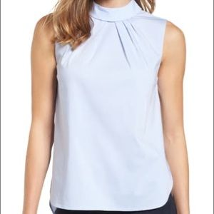 Halogen (Nordstrom) Pleat Front Top XS